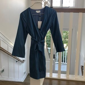 Lover and friends chambray wrap dress